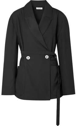 Opening Ceremony Oversized Belted Twill Jacket - Black