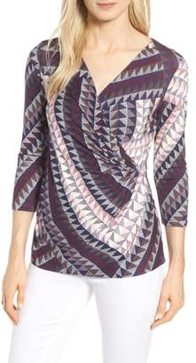 Nic+Zoe Every Occasion Faux Wrap Top