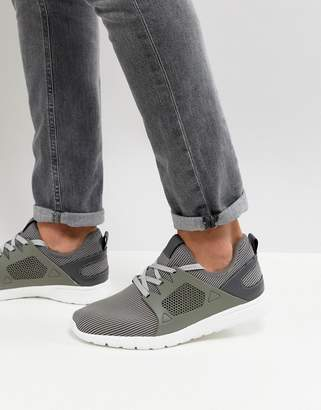 New Look Sneakers In Mid Gray