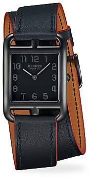 HERMÃS HERMÃS Cape Cod, Stainless Steel& Leather Strap Watch