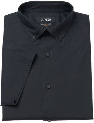 Apt. 9 Men's Slim-Fit Stretch Button-Down Collar Short-Sleeved Dress Shirt