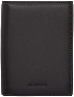 Jil Sander Black External Card Holder Wallet