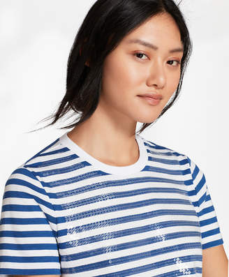 Brooks Brothers Sequin-Striped T-Shirt