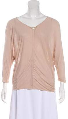 The Row Accented Long Sleeve Top