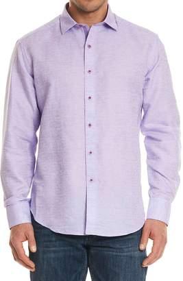 Robert Graham Cyprus Classic Fit Linen & Cotton Sport Shirt