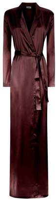 La Perla Silk Reward Bordeaux Long Silk Robe