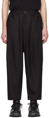 N.Hoolywood Black Woven Trousers