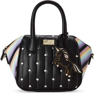 Betsey Johnson Luv Betsey By Black & Rainbow Quinn Mini Satchel Bag