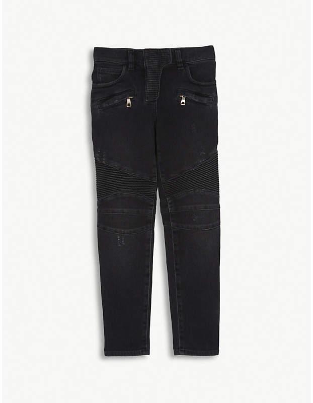 Slim fit denim biker jeans 8-14 years