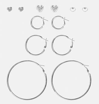 Avenue Hoops and Hearts Earring Set