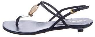 Missoni Leather Embellished Sandals