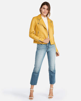 Express Minus The) Leather Quilted Moto Jacket