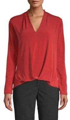 Kenneth Cole New York V-Neck High-Low Top