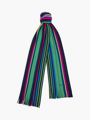 Paul Smith Grande Merino Wool Stripe Scarf, Multi