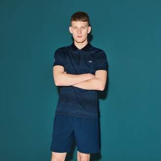Lacoste Men's SPORT Zip Neck Print Tennis Polo