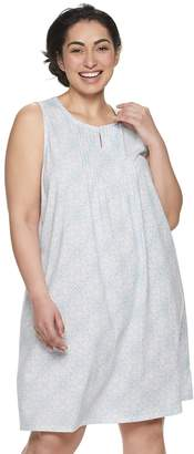 Croft & Barrow Plus Size Pintuck Keyhole Nightgown