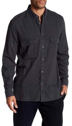 Barney Cools Worker Stripe Long Sleeve Regular Fit Shirt
