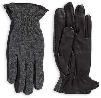 Hudson North Wool Leather Palm Touch Gloves