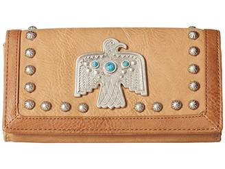 American West Guns And Roses Flap Wallet Wallet Handbags