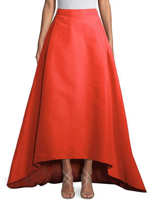 Carolina Herrera Silk High-Low Skirt