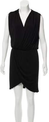 Halston Knee-Length Surplice Neckline Dress