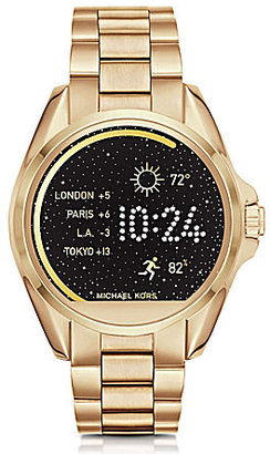 Michael Kors Access Bradshaw Bracelet Smart Watch $350 thestylecure.com