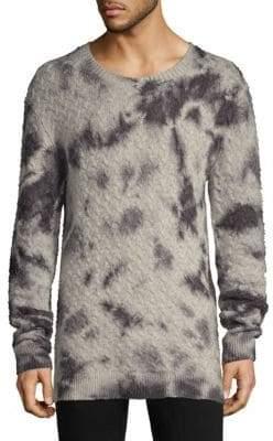 John Varvatos Wool& Cashmere Tie-Dye Crewneck Sweater