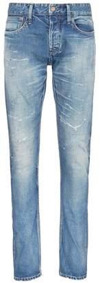 Denham Jeans 'Razor' ripped selvedge jeans