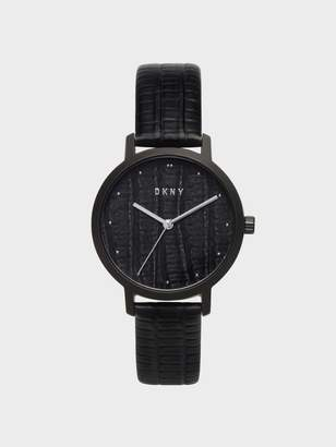 DKNY Modernist With Python Dial And With Embossed Leather Strap