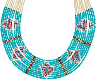 South Western Multi Strand and Colored Seed Bead Necklace