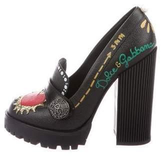 60c2a01c98c Dolce   Gabbana Embellished Platform Loafers