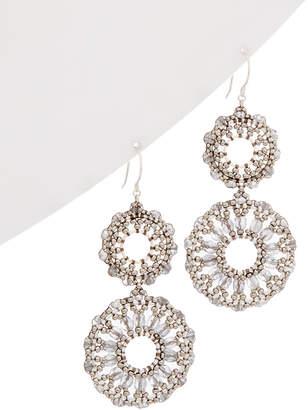 Miguel Ases Silver Drop Earrings