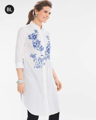 Chico's Chicos Floral Embroidered Tunic