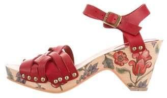 Isabel Marant Leather Clog Sandals