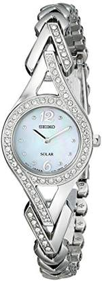 "Seiko Women's SUP173 ""Jewelry-Solar Classic"" -Tone Stainless Steel Watch"
