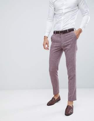 Hatch ASOS DESIGN wedding skinny suit pants in dark wine cross