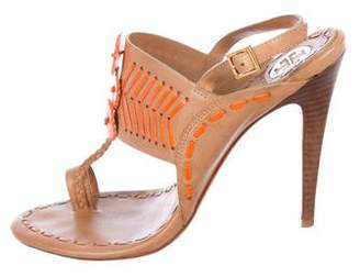 Tory Burch Leather Braided Sandals