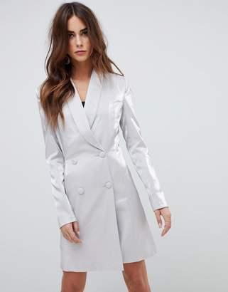 Fashion Union metallic blazer dress