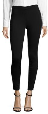 Polo Ralph Lauren Leather-Patch Jodhpur Leggings $125 thestylecure.com