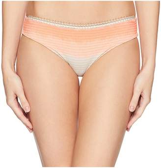 Luli Fama Los Flamencos Lurex Trim Full Ruched Back Bottom Women's Swimwear
