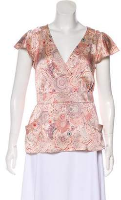 Marc Jacobs Silk Printed Top