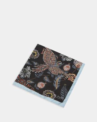 Ted Baker DIGME Animal paisley silk pocket square