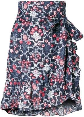 1f8456afe429 Etoile Isabel Marant floral frill trim wrap skirt