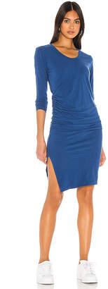 Sundry Ruched Slit Dress