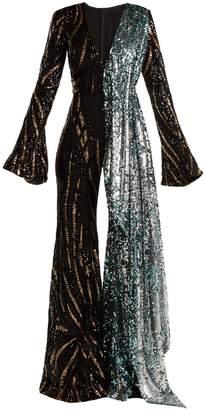 HALPERN Sequin-embellished wide-leg jumpsuit