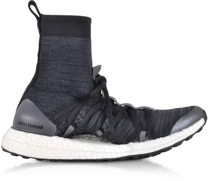 Adidas Stella Mccartney Core Black and Night Grey Ultraboost X Mid Top Trainers