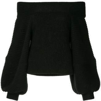 Oscar de la Renta off-the-shoulder sweater