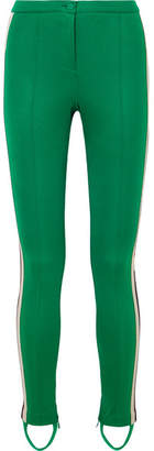 Gucci Striped Tech-jersey Stirrup Leggings - Green