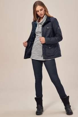 Next Barbour Womens Royal Navy Rhossili Wax Jacket Blue 8