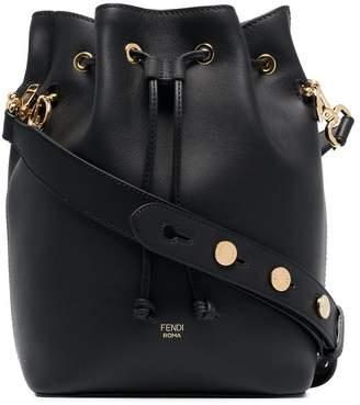 Fendi Black Mon Tresor large leather bucket bag